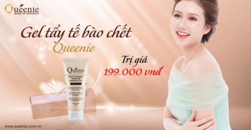 Gel tẩy tế bào chết trắng da, bổ sung collagen Queenie Nutri Collagen Whitening