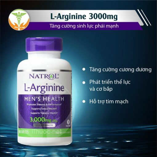 L-ARGININE 3000mg Natrol Tăng cường sinh lý nam