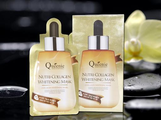 Mặt nạ dưỡng trắng da bổ sung collagen Queenie Nutri Collagen Whitening