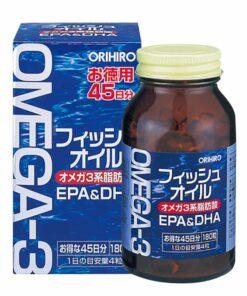 Dầu cá Omega 3 Orihiro Fish Oil Nhật Bản hộp 180 viên