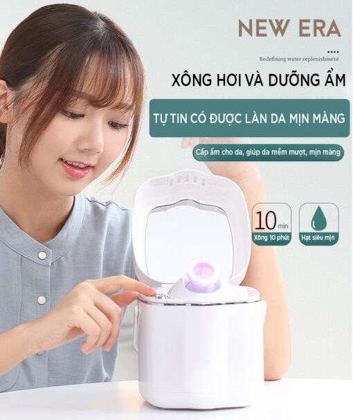 cách sử dụng máy xông mặt