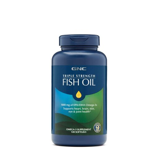 GNC Triple Strength Fish Oil Mini softgels 120 viên của Mỹ