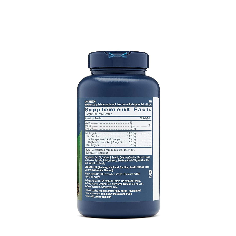 Viên uống GNC Triple Strength Fish Oil Mini softgels