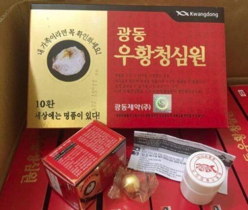 An Cung Ngưu Hoàng Hoàn Kwang Dong Hàn Quốc hộp đỏ 10 viên