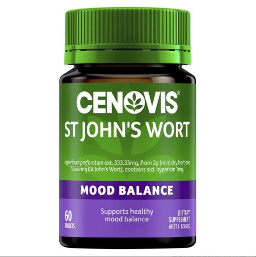 Cenovis® St John's Wort 2000mg an thần chống trầm cảm nhẹ
