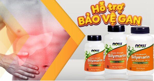 Viên uống Extra Strength Silymarin Milk Thistle Extract 450 mg Now 120 viên giải độc gan, tăng cường chức năng gan