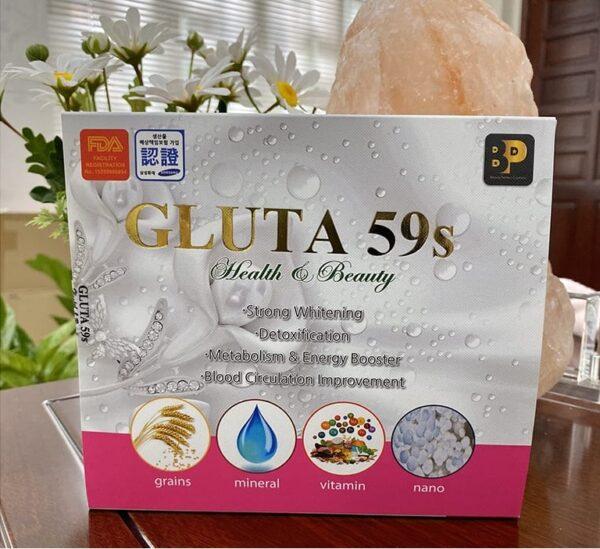 GLUTA 59s Health & Beauty Hàn Quốc thải độc gan, làm trắng da