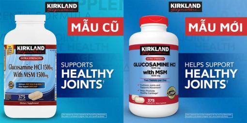 Viên uống bổ khớp Glucosamine HCL 1500mg with MSM 1500mg Kirkland