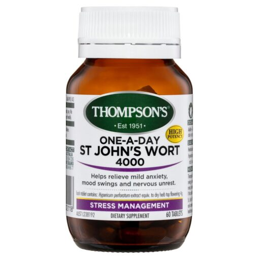 thompson's one-a-day st. john's wort 4000mg 60 tablets