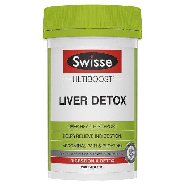 Viên uống Liver Detox Swisse Ultiboost 200 viên - bổ gan và thải độc gan của Úc