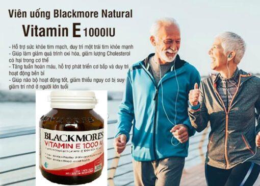 Viên uống Blackmore Natural Vitamin E 1000IU 30 viên của Úc