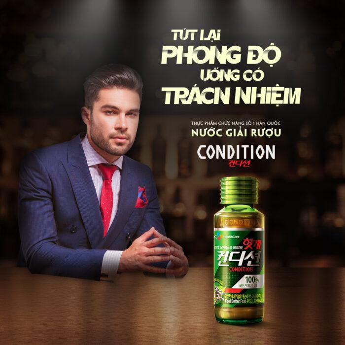 Nước giải rượu Condition CJ HealthCare 75ml Hàn Quốc - giải độc gan, bảo vệ gan