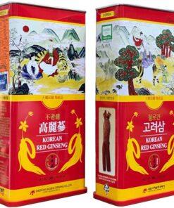 Hồng sâm củ khô 6 năm tuổi Daedong Hàn Quốc hộp thiếc cao cấp 300g