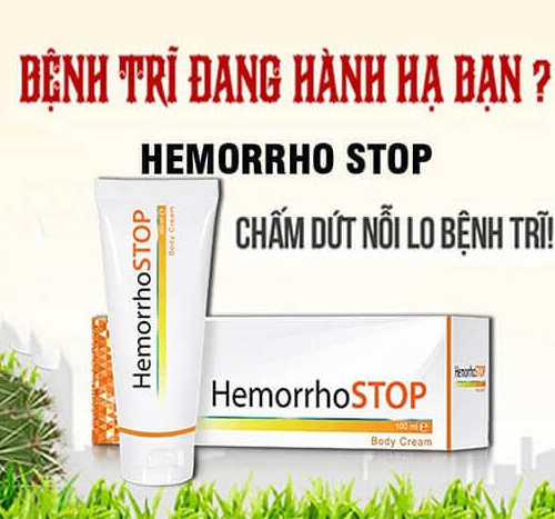 Kem bôi trĩ HemorrhoSTOP điều trị bệnh trĩ hiệu quả