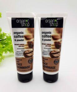 Kem tẩy da chết cho mặt Organic Shop chiết xuất Cafe
