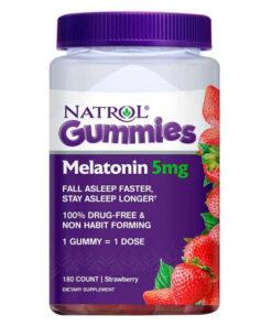 Kẹo dẻo ngủ ngon Gummies Natrol Melatonin 10mg