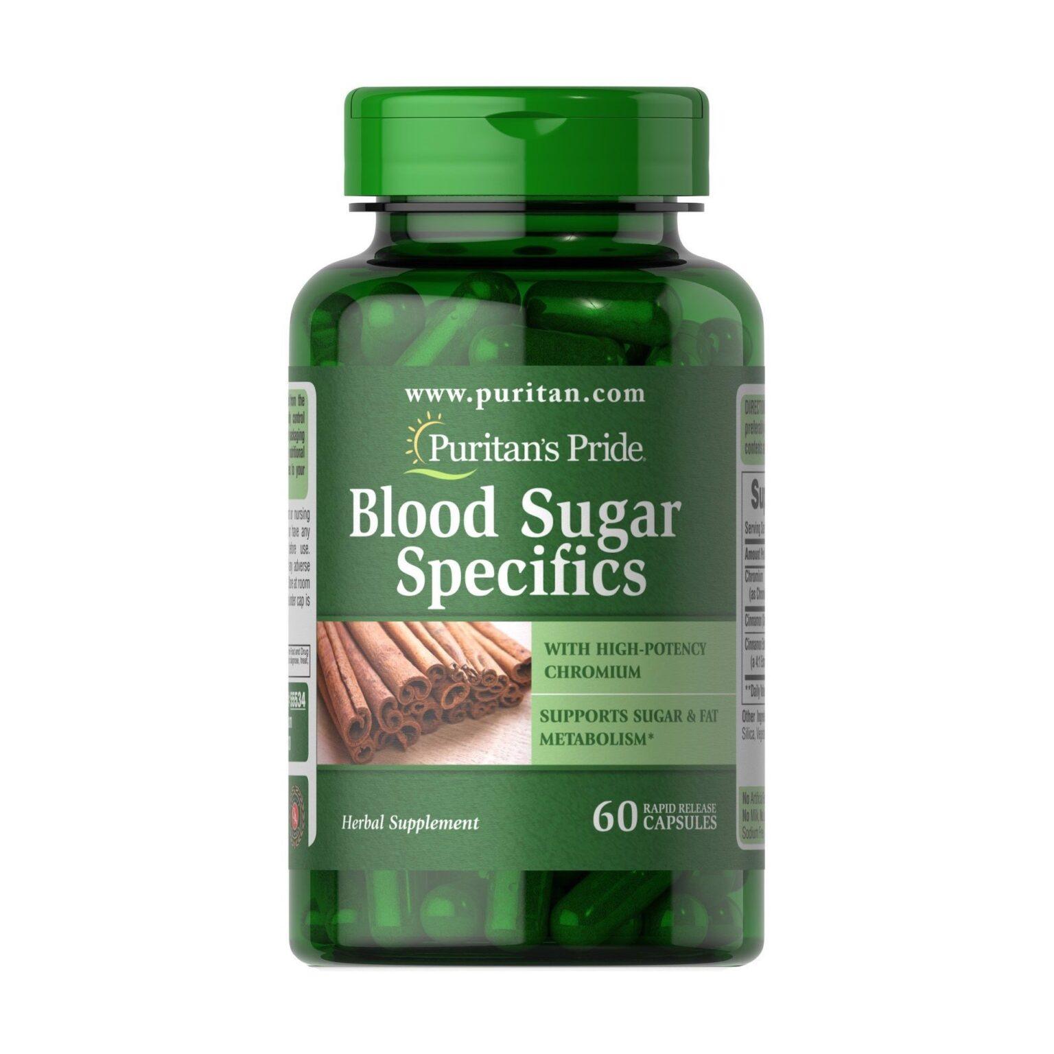 puritan's pride blood sugar specifics