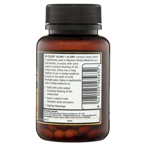 Viên uống hỗ trợ điều trị gout Go Celery 16000mg Uric Acid Balance Go Healthy