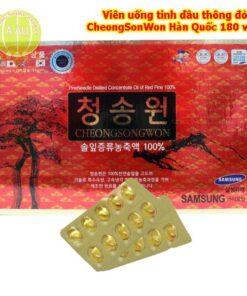 Tinh Dầu Thông Đỏ Cheongsongwon SamSung HTinh Dầu Thông Đỏ Cheongsongwon SamSung Hàn Quốc 180 viênàn Quốc 180 viên