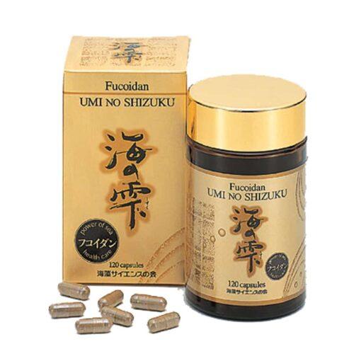 Viên uống Fucoidan Umi No Shizuku 120 viên- Phòng ngừa và hỗ trợ điều trị ung thư hiệu quả