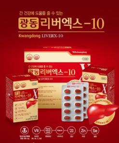 VIÊN UỐNG BỔ GAN, GIẢI ĐỘC GAN LIVERX-10 KWANGDONG HÀN QUỐC