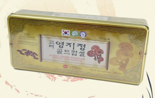 Viên linh chi KGS Korean Linhzhi Mushroom Extract Gold Capsule Hàn Quốc