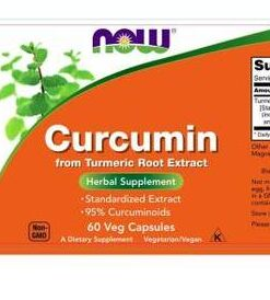 Viên uống tinh chất nghệ CURCUMIN 630mg NOW 60 Viên