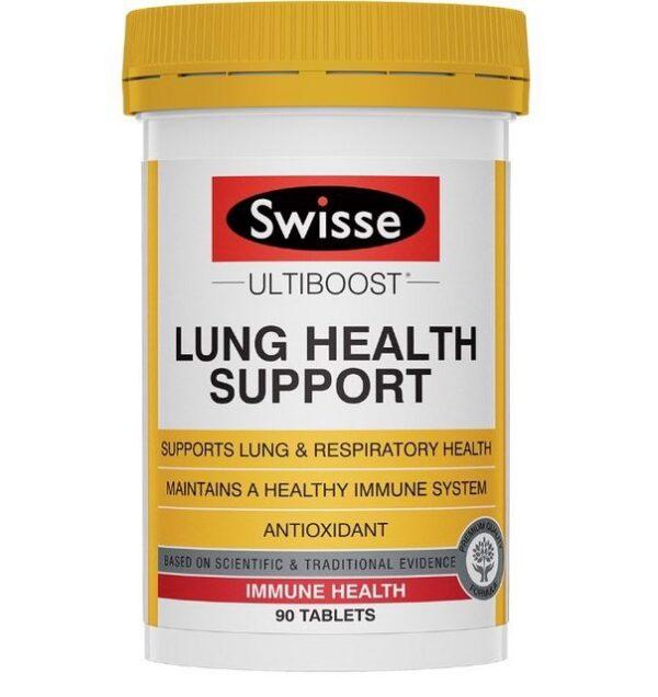 Viên uống Lung Health Support Swisse Ultiboost 90 viên tăng cường chức năng phổi