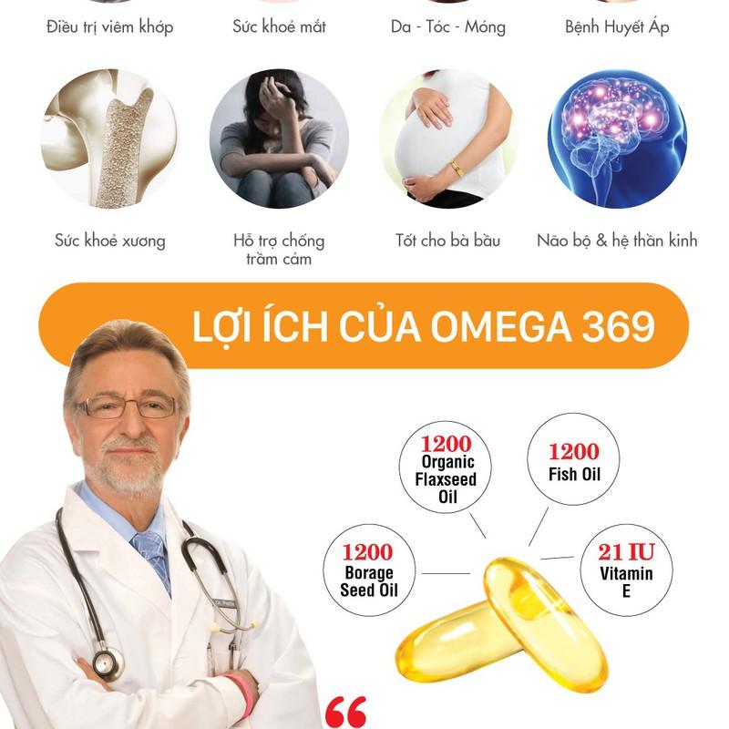 Viên uống Triple Omega 3-6-9 Puritan's Pride 120 viên bảo vệ tim mạch - tăng cường hệ miễn dịch