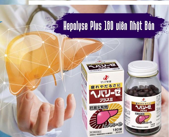 Viên uống bổ gan Hepalyse Plus II Nhật Bản 180 viên