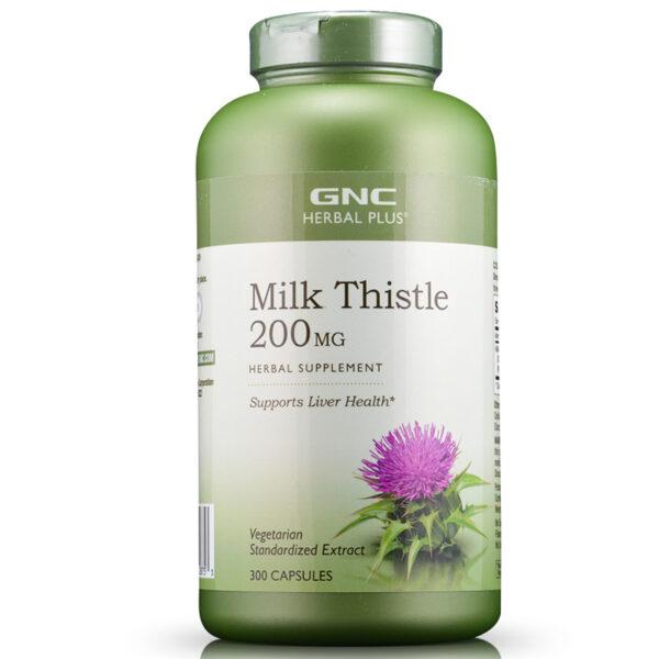 Viên uống giải độc gan Milk Thistle 200mg GNC Herbal Plus