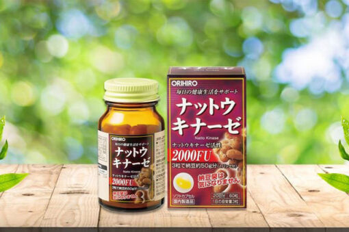 Viên uống hỗ trợ điều trị tai biến Natto Kinase 2000FU Orihiro 60 viên