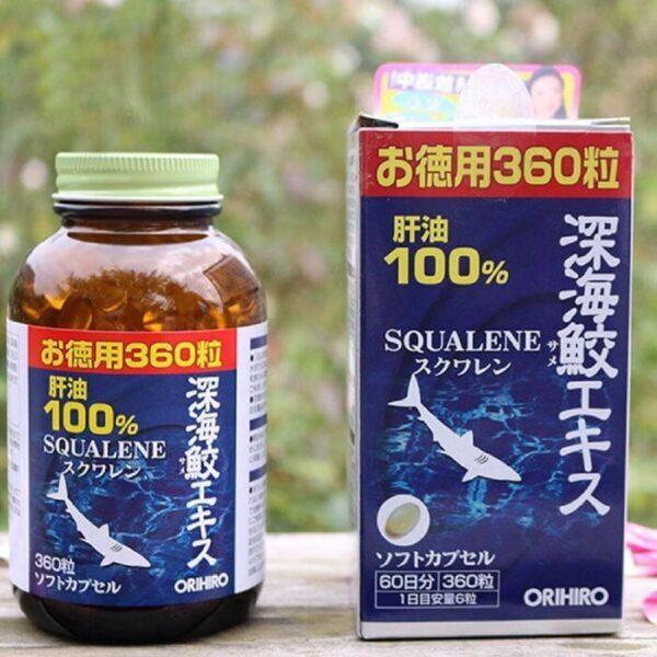 Viên uống sụn vi cá mập Squalene Orihiro Deep Sea Shark Extract Nhật Bản 360 viên