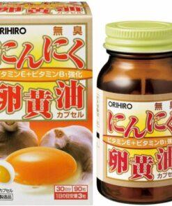 Viên uống tỏi đen và lòng đỏ trứng Orihiro Nhật Bản 90 viên