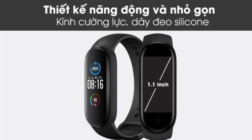 Vòng đeo tay thông minh Xiaomi Mi Band 5 theo dõi sức khỏe
