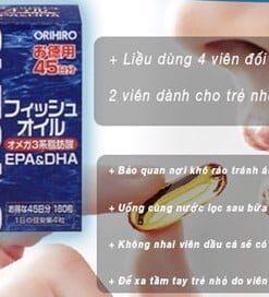 dầu cá Omega 3 Orihiro