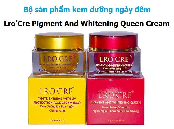 Lro'Cre Pigment And Whitening Queen Cream - Kem dưỡng trắng da, ngăn ngừa thâm nám, tàn nhang