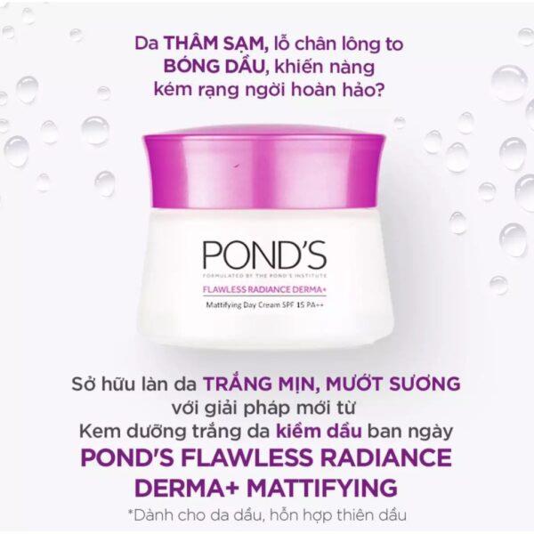Kem dưỡng da ban ngày Pond's Flawless Radiance Derma+ SPF 15