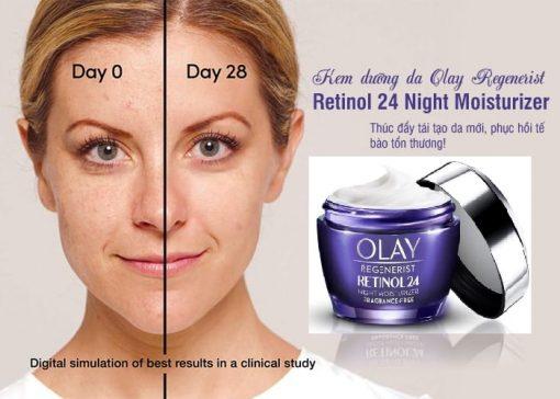 Kem dưỡng đêm chống lão hóa Olay Regenerist Retinol 24 Night Moisturiser