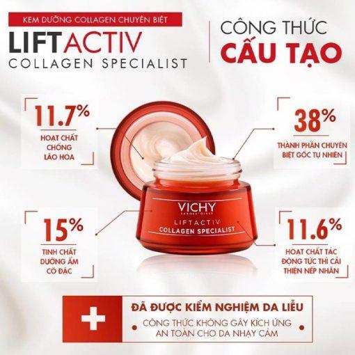 Kem dưỡng da chống lão hóa ban đêm Vichy Liftactiv Collagen Specialist