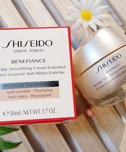 Kem dưỡng da chống lão hóa Shiseido Benefiance Wrinkle Smoothing Cream Enriched 50ml cho da khô và da thường